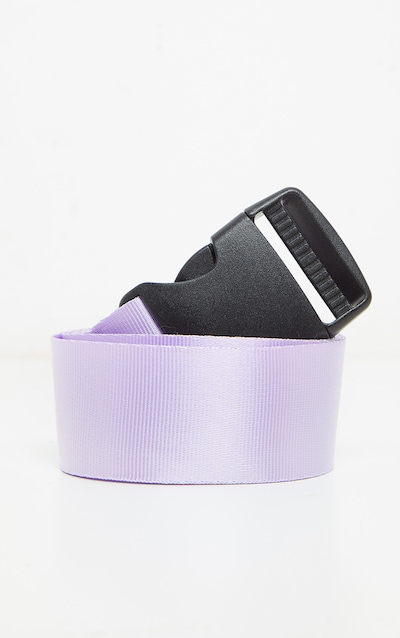Lilac Pink Slider Buckle Tape Belt