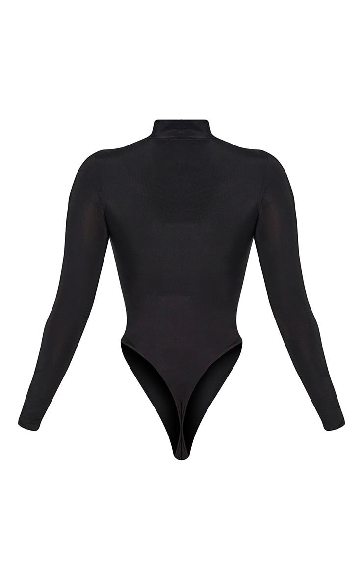Shape Black Corset Seam Detail Bodysuit 4