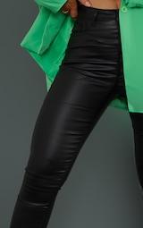 Black 5 Pocket Coated Skinny Jean 4