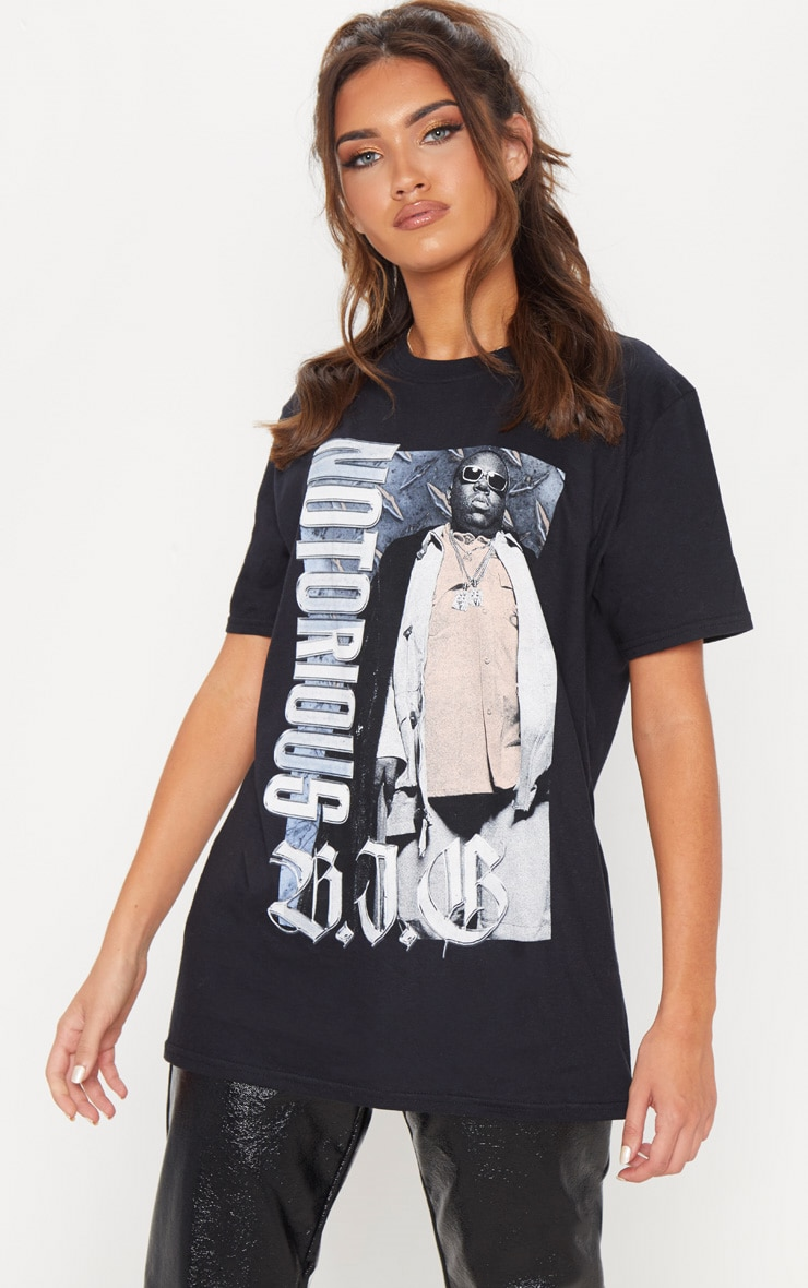 Black Notorious BIG Oversized T Shirt 3