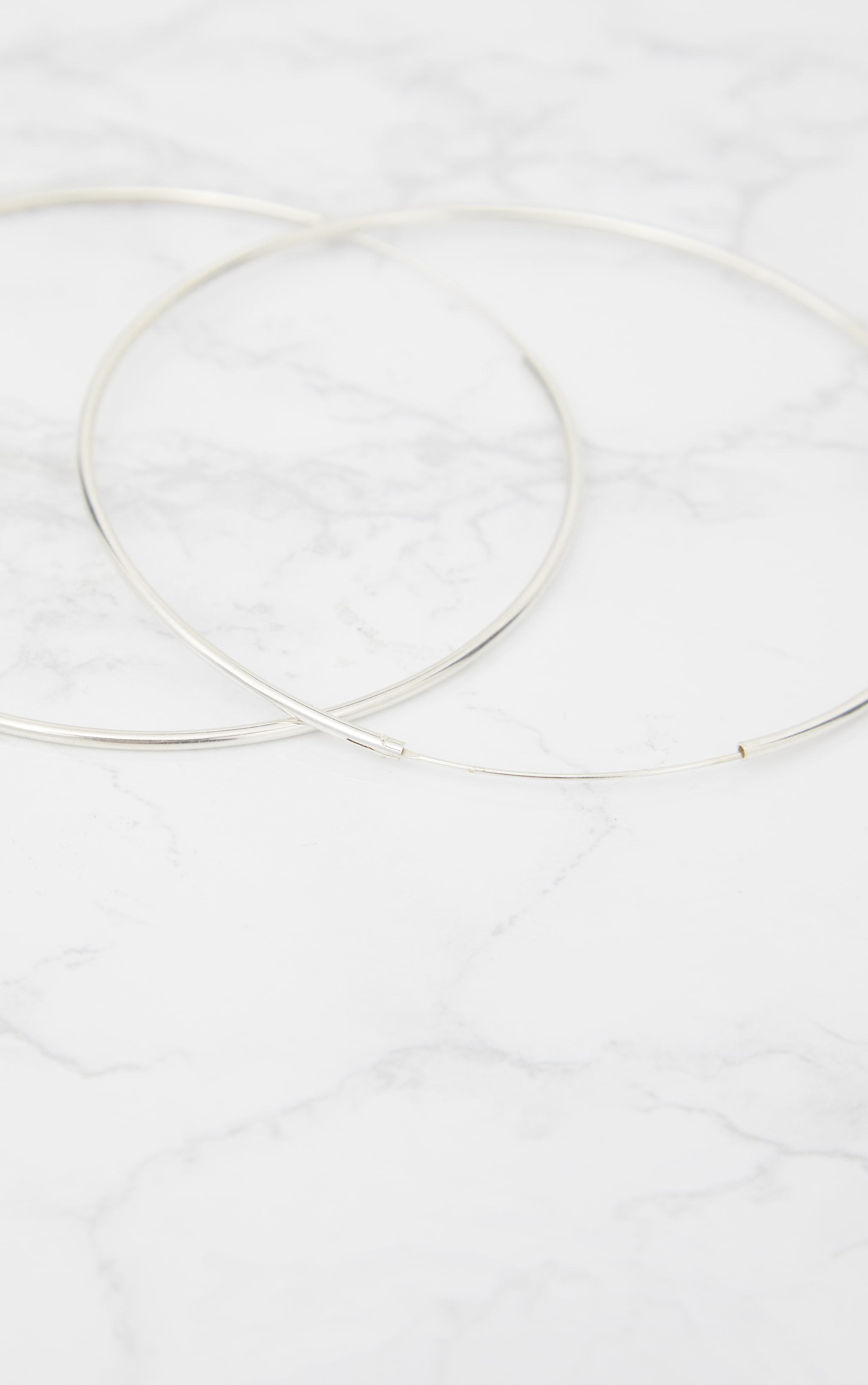 Sterling Silver 100mm Large Hoop Earrings 3
