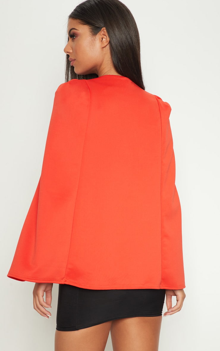 Orange Cape Blazer 2