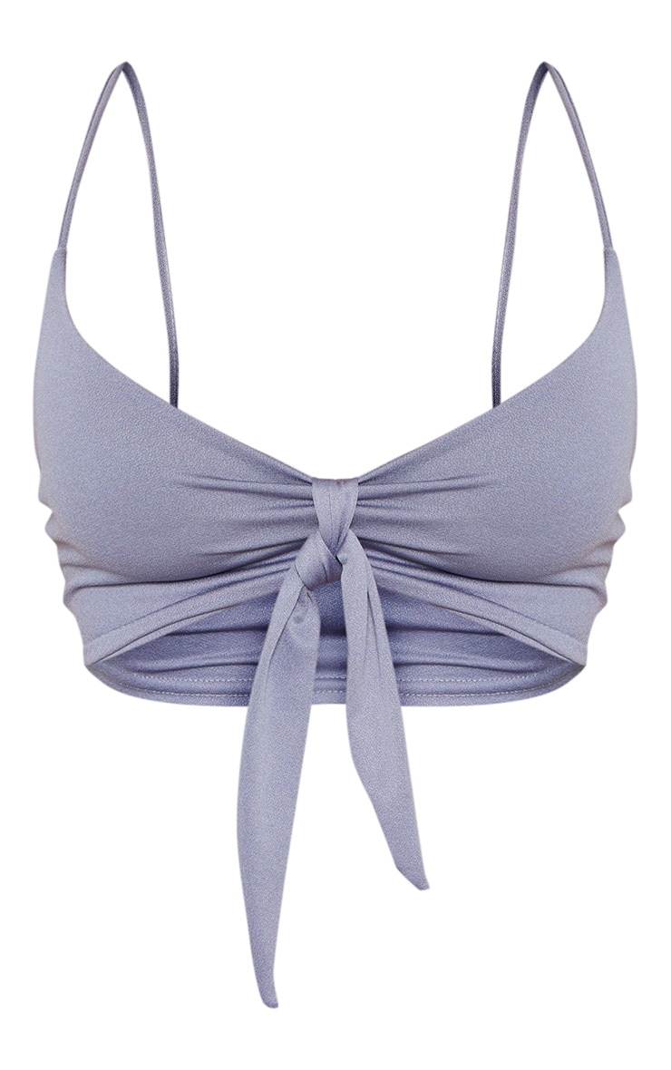 Charcoal Tie Front Bralet 3