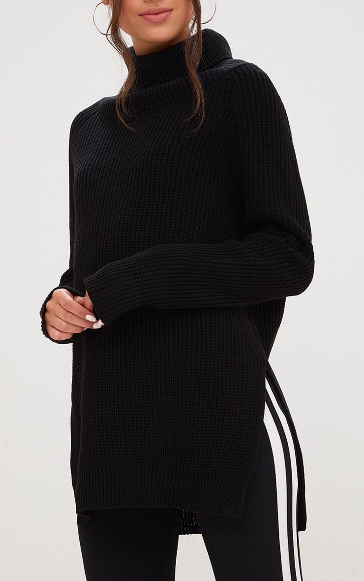 Black High Neck Jumper 5