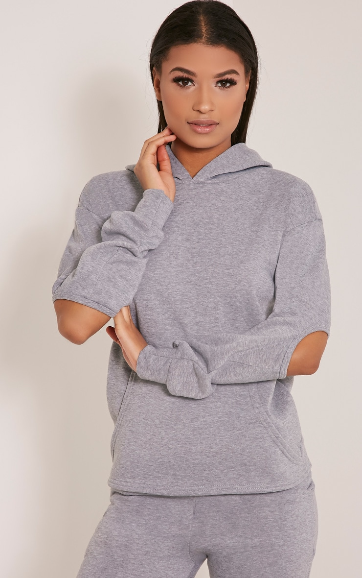 Dionne Grey Slit Elbow Sweater 1