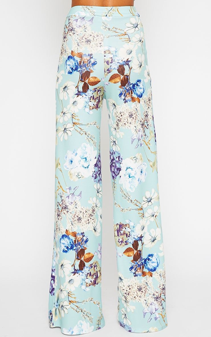 Chantal Floral Print Flare Trousers 3