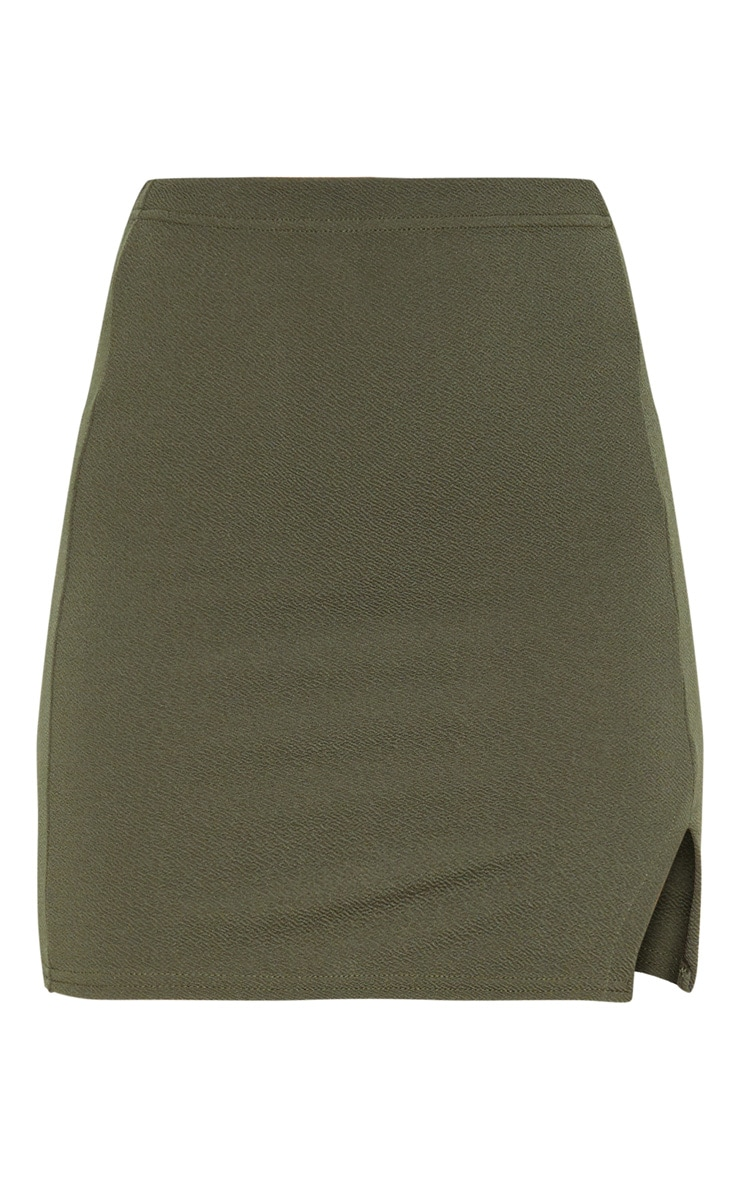 Jemmia Khaki Split Mini Skirt  3