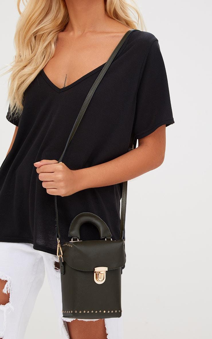 Olive Mini Handled Handbag 2