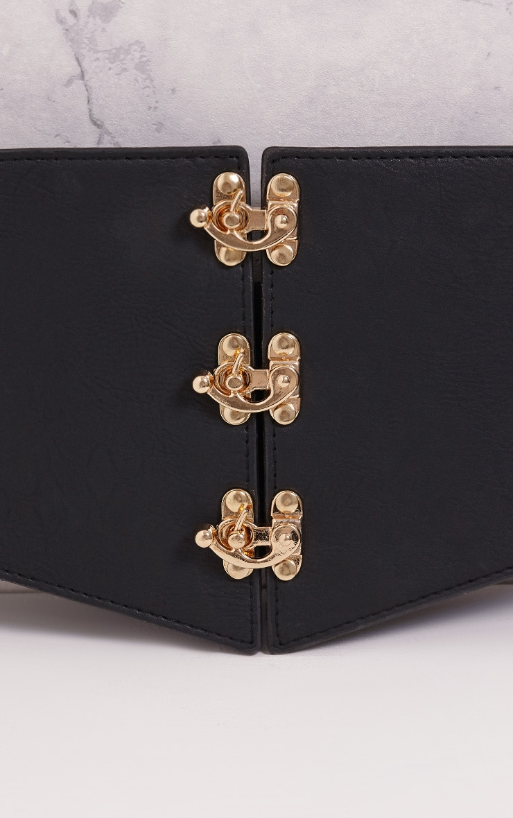 Ediee Black Corset Style Belt 6