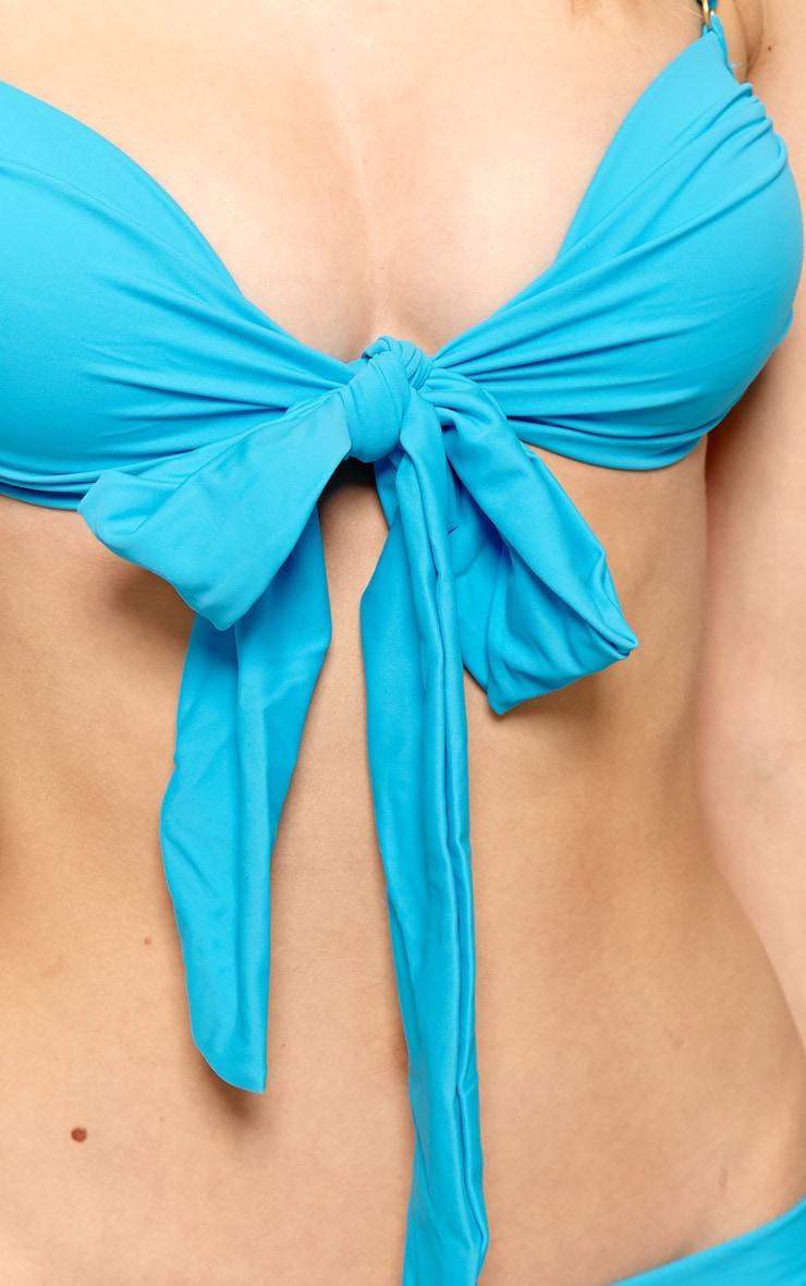 Casey Blue Bow Bikini 4