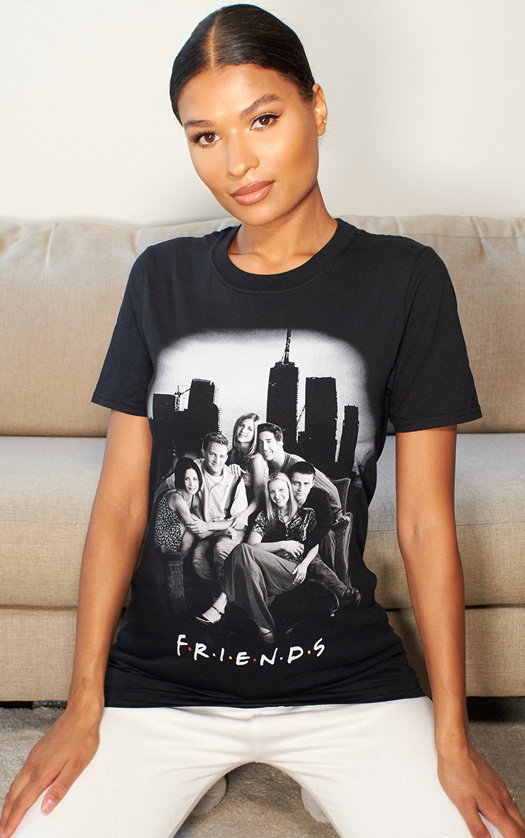 Black Friends Photographic Printed T Shirt 2