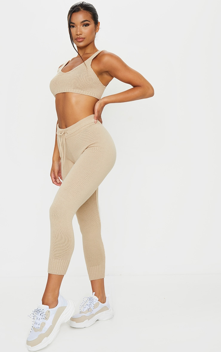 Stone Knitted Bralet And Jogger Set 3