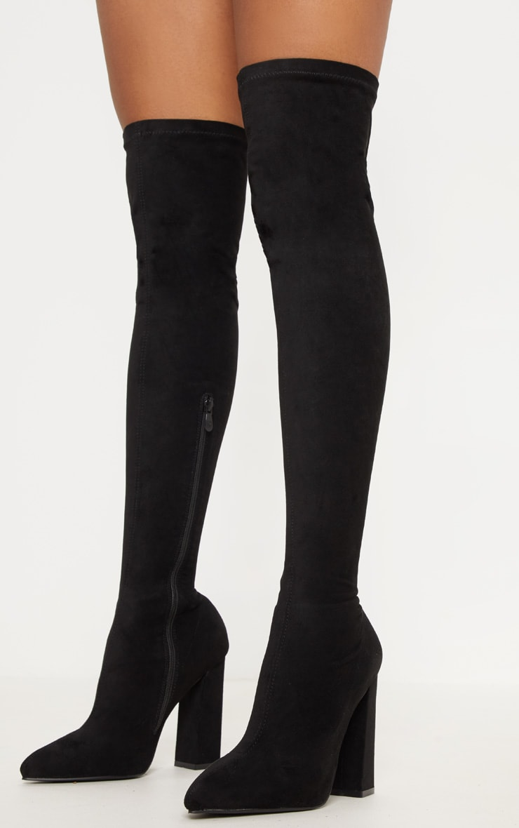 Black Point Block Heel Over The Knee Boot 2