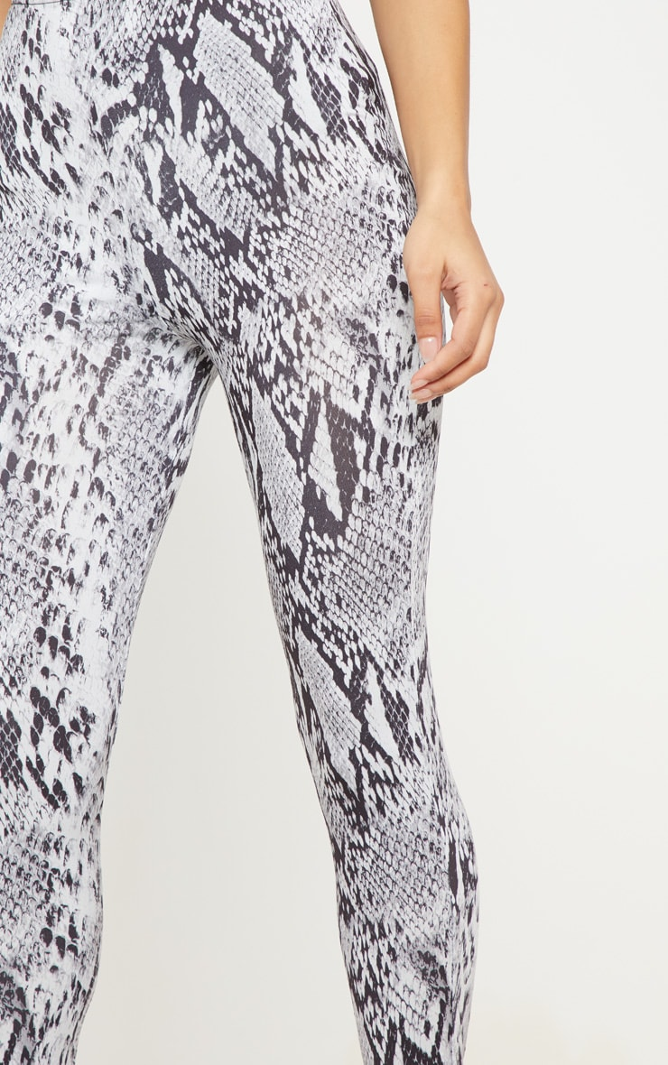 Grey Snake Print Soft Touch Legging 5