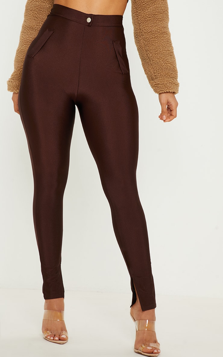 Chocolate Disco Split Hem Skinny Trouser  2