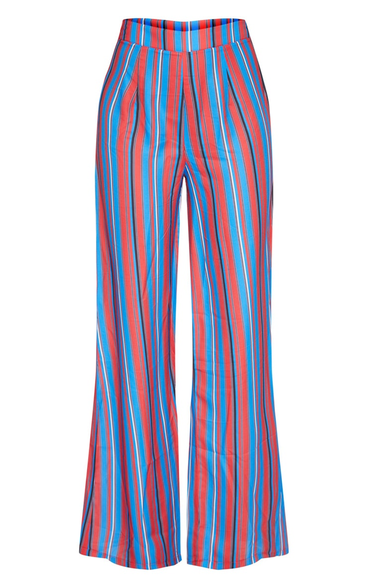 Red Stripe Wide Leg Trouser 3