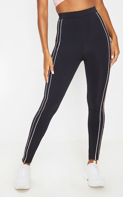 Black Side Stripe Gym Legging