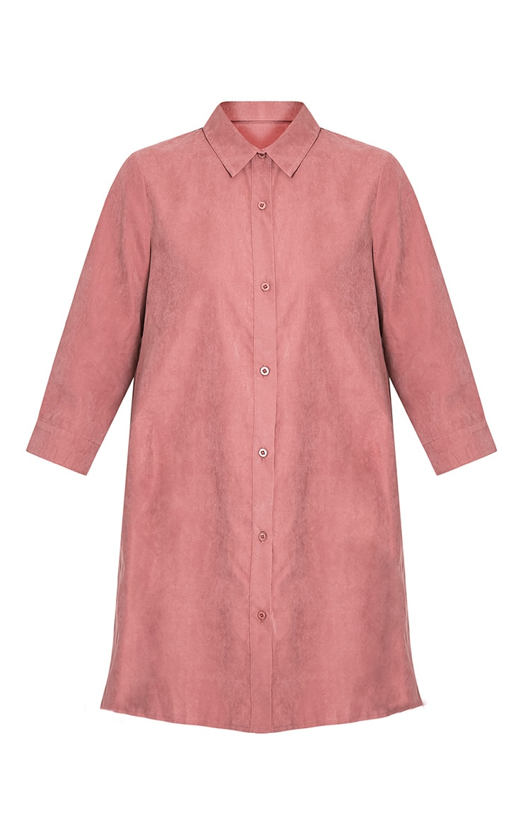 Leni Dusty Pink Shirt Dress 5