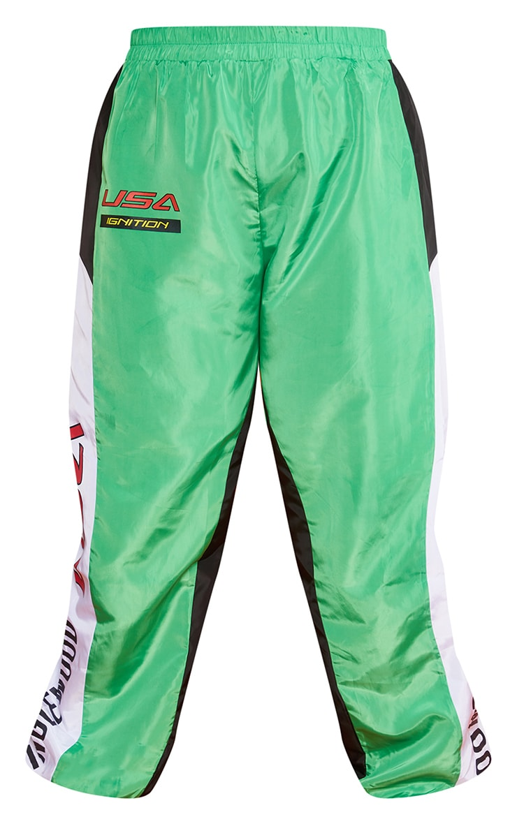 Plus Green Motocross Panelled Cargo Joggers 6