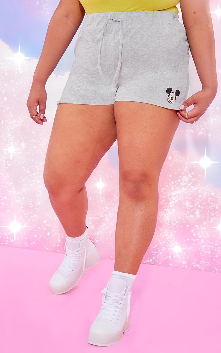 Plus Grey Disney Mickey Runner Shorts 2