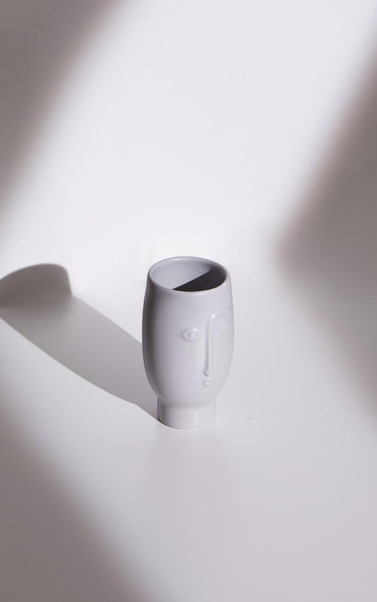 Grey Mini Face Vase 3