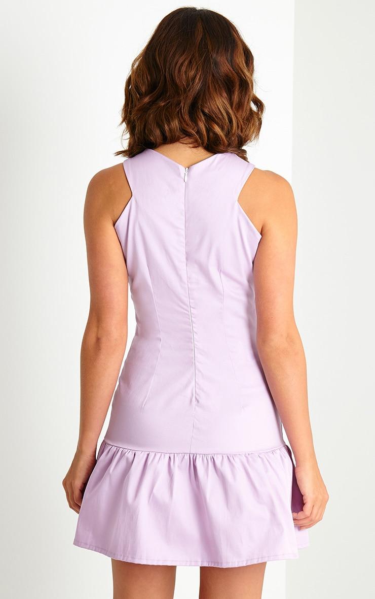 Charlotte Lilac Peplum Mini Dress 2