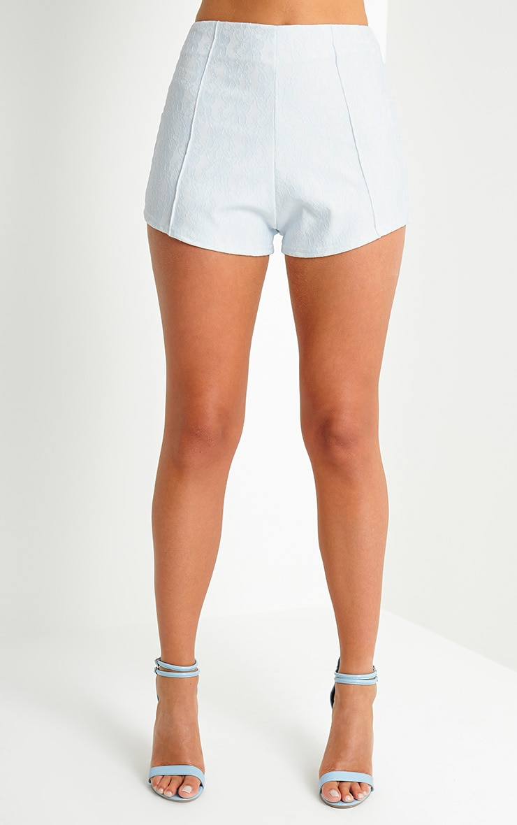 Rosie Blue Bonded Lace Shorts 2