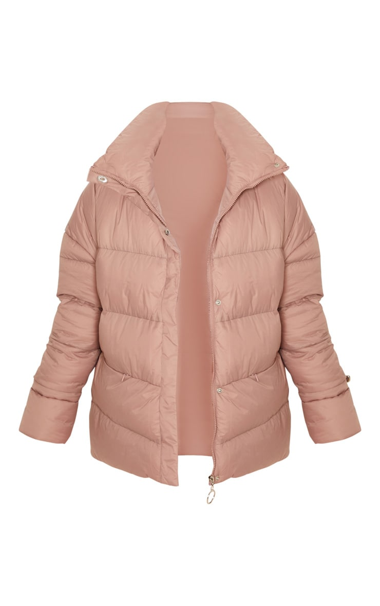Taupe Hooded Puffer Jacket 3