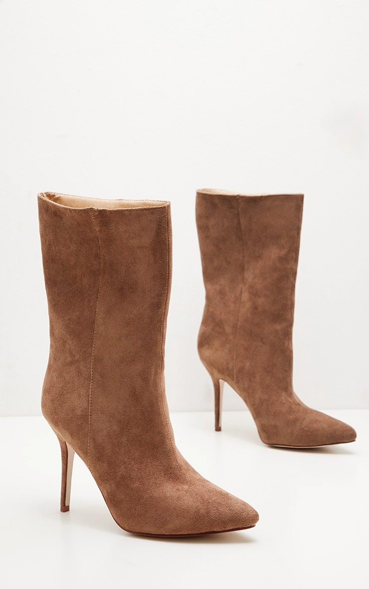 Sand Mid Heel Ankle Boot  3