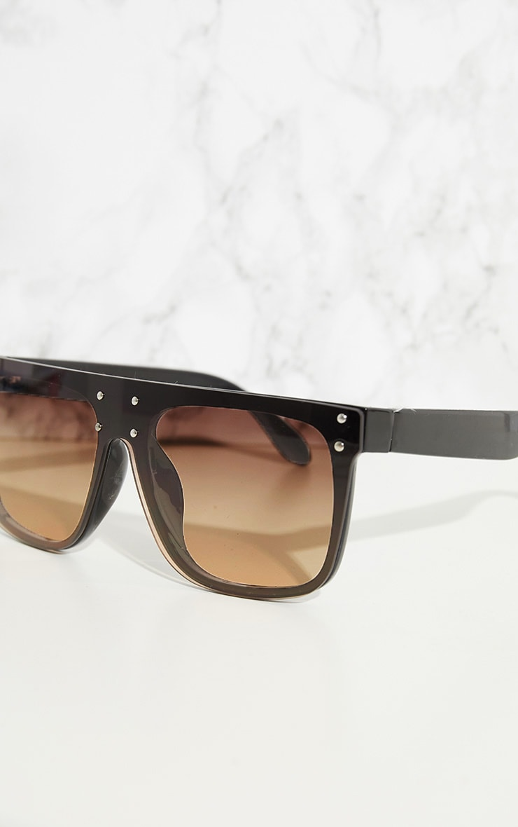 Black Flat Top Edge Sunglasses 4