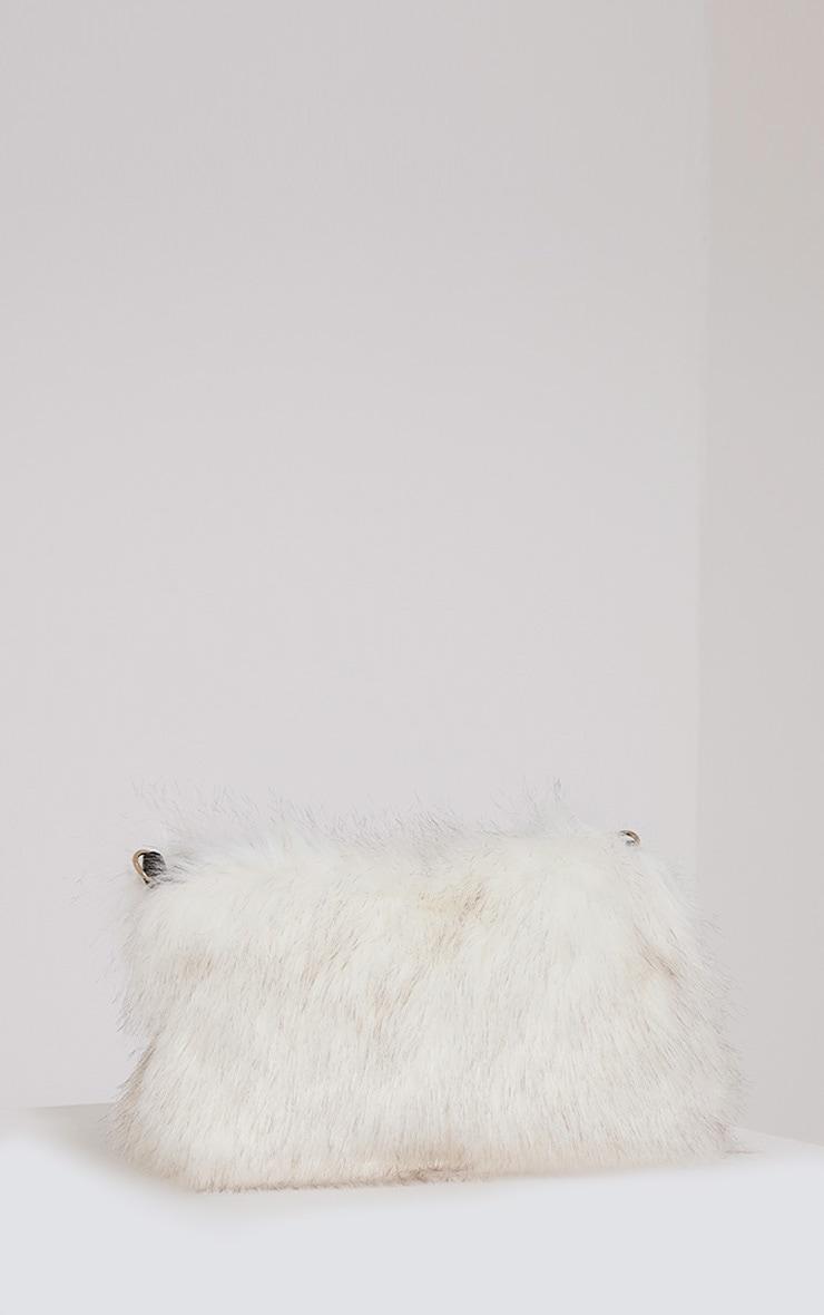 Christah White Faux Fur Chain Shoulder Bag 4