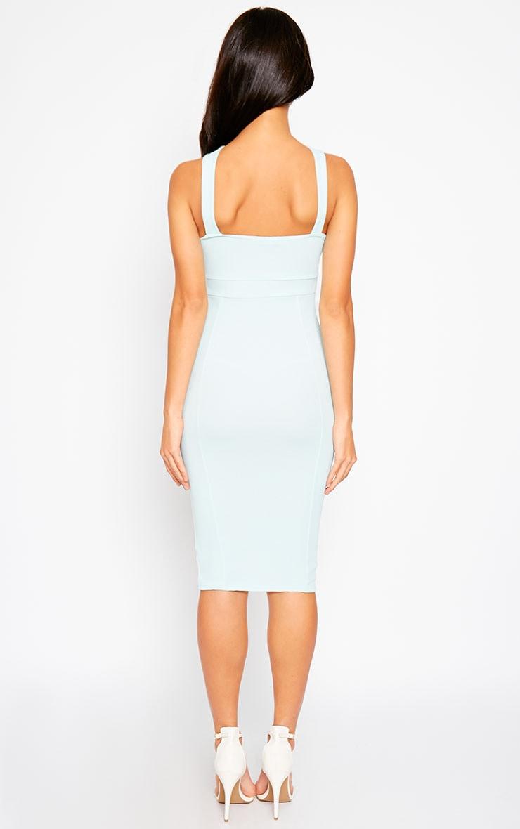 Courtney Mint Cross Front Midi Dress 2