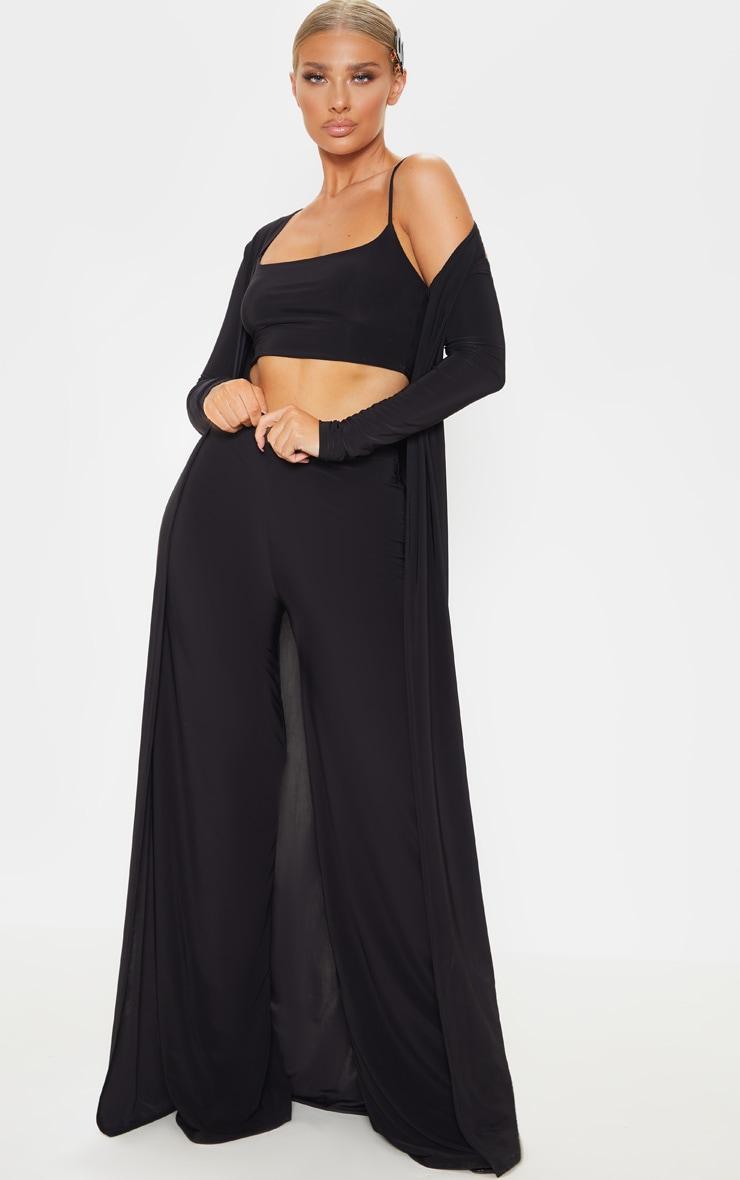 Veste très longue slinky noire  4