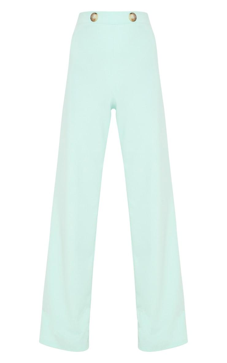 Mint Button Detail Wide Leg Trouser 3
