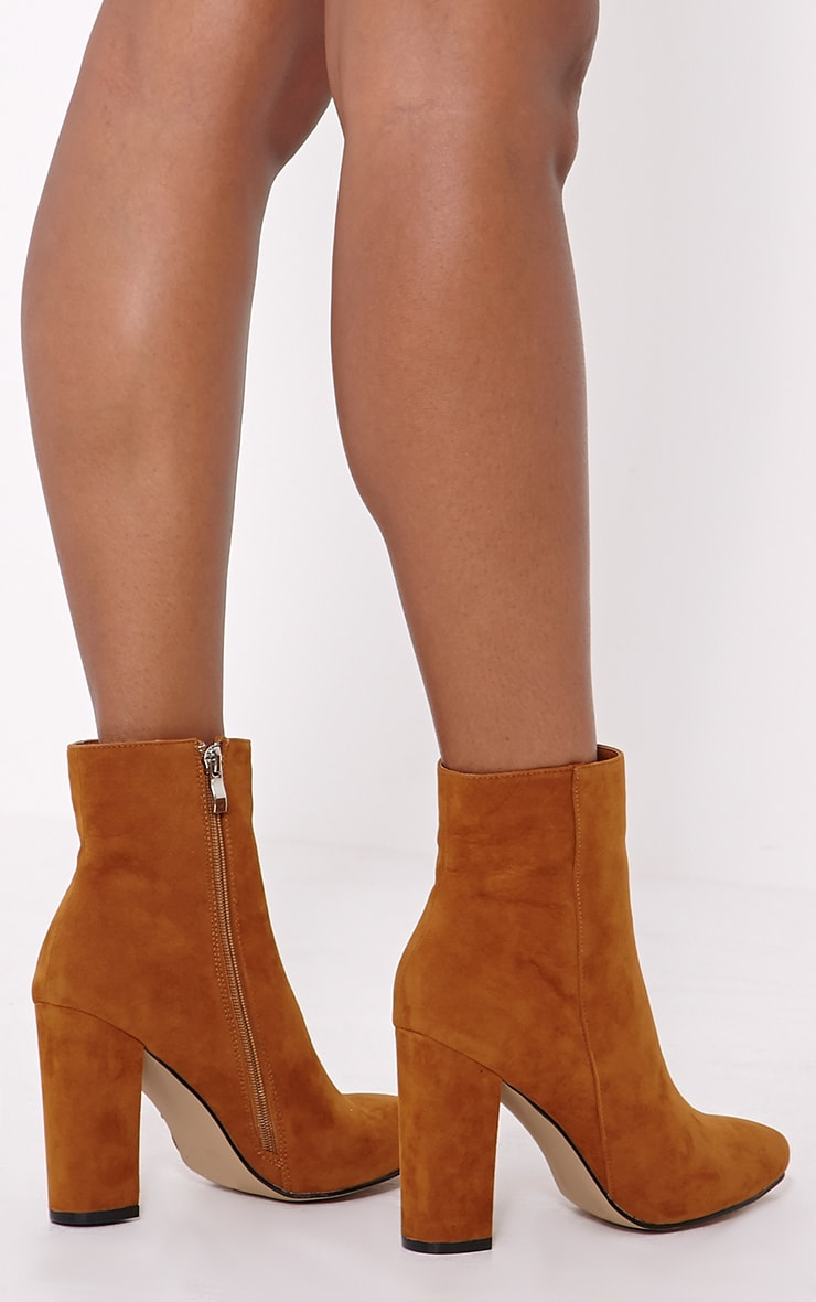 Behati Tan Faux Suede Ankle Boots 2