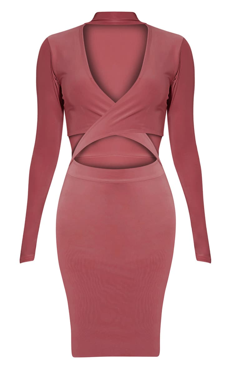 Nadeena Rose Neck Detail Cut Out Bodycon Dress 3