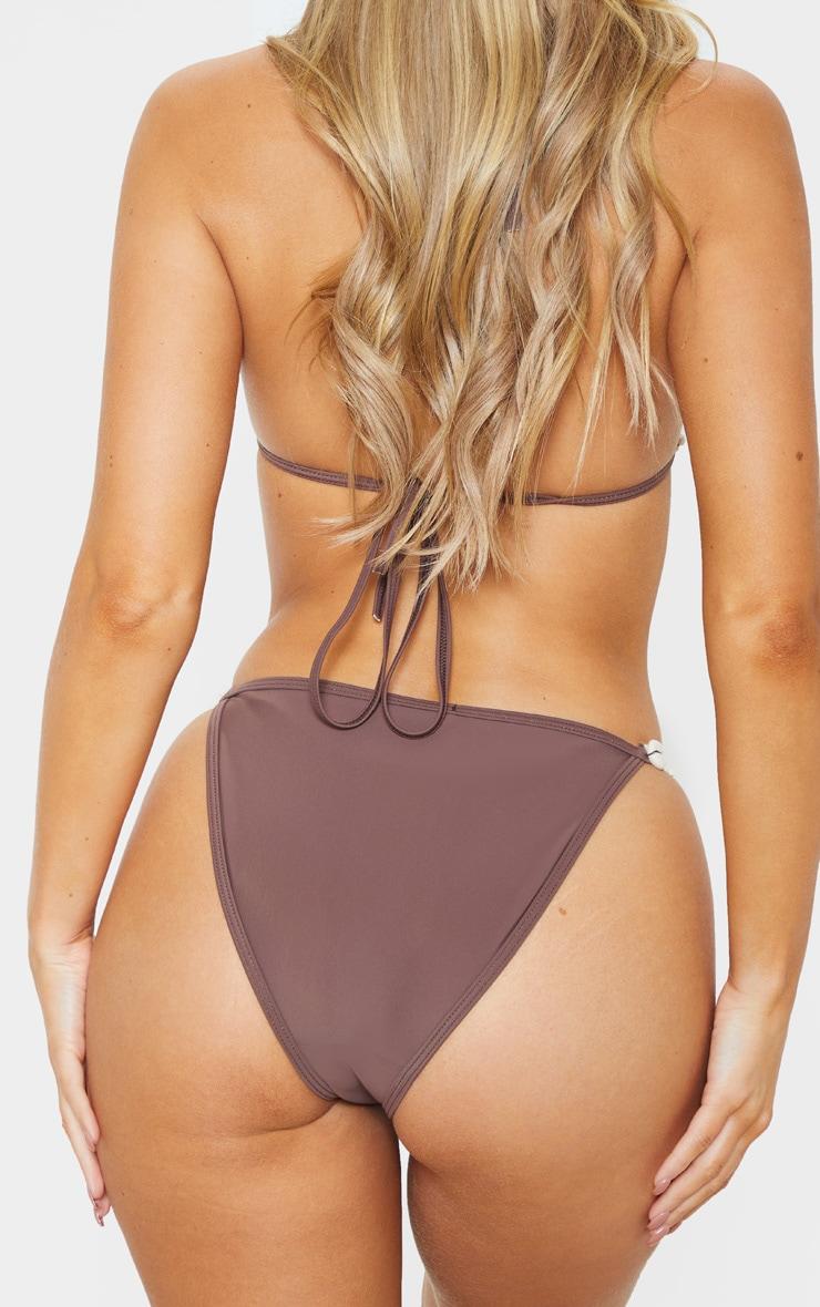 Brown Shell Trim Bikini Bottom 4