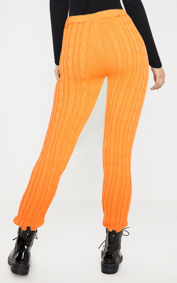 Bright Orange Cable Knit Jumper & Legging Set  5