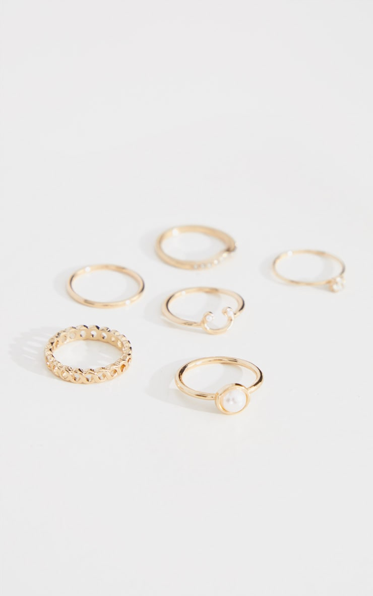 Gold Multi Assorted Ring Pack 3