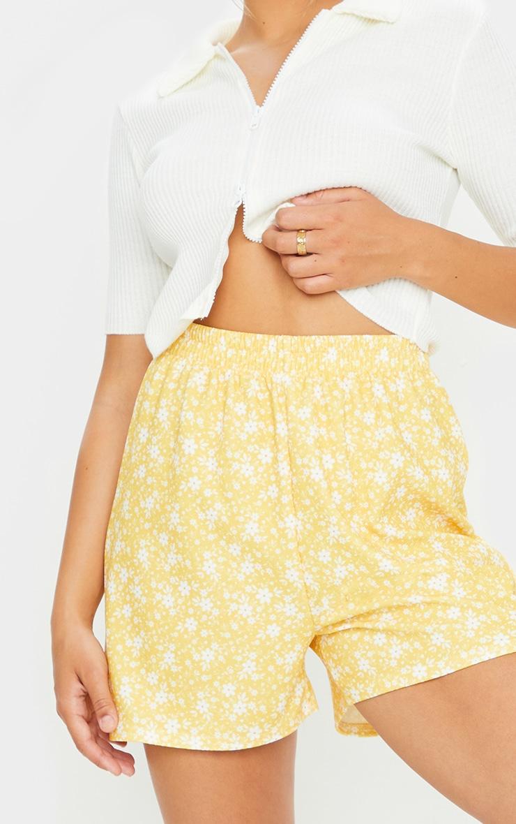 Yellow Oversized Floaty Shorts 5