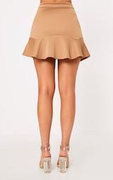 d92a3dbe55 Verity Camel Flippy Hem Mini Skirt | Jumpers | PrettyLittleThing