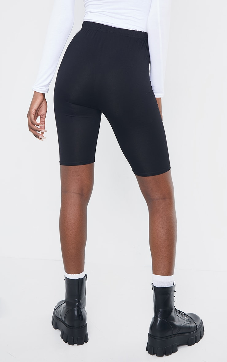 Tall Black Basic Jersey Bike Short 3