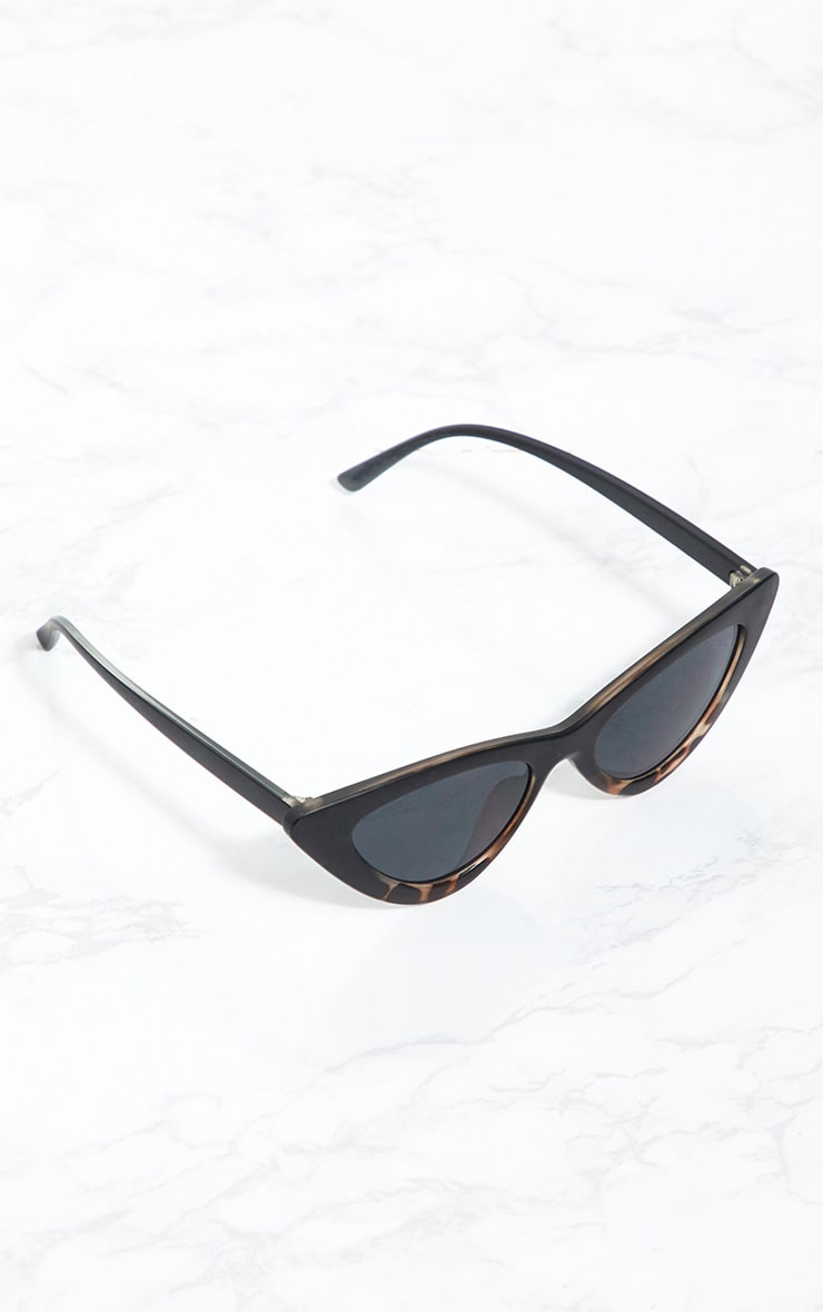 Black Animal Cat Eye Retro Sunglasses 3