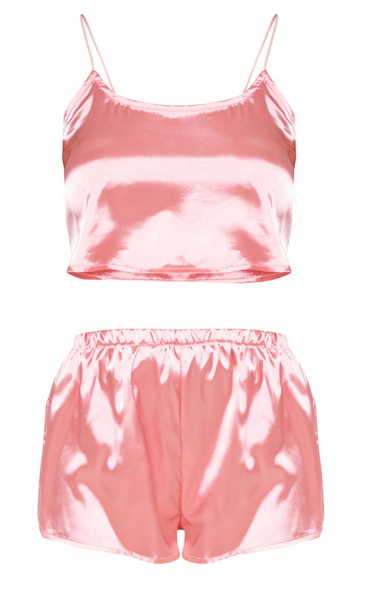 Issie Rose Satin Pyjama Shorts Set 3