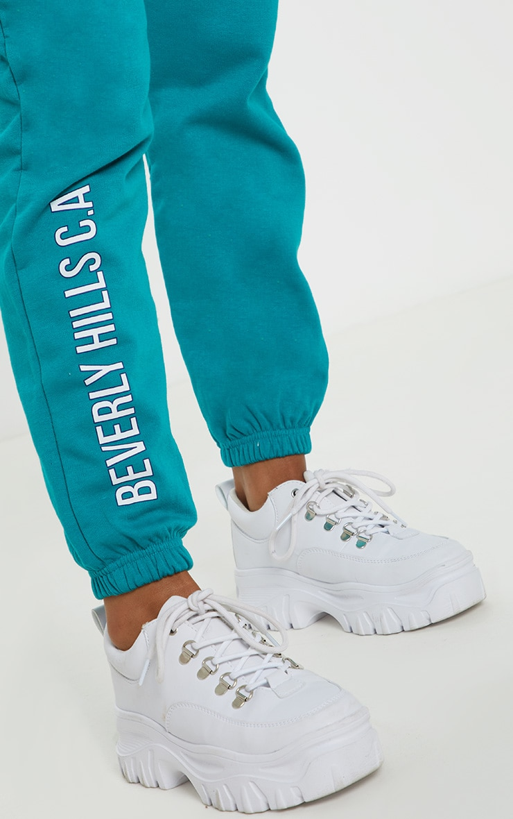 Teal Beverly Hills Slogan Jogger 5