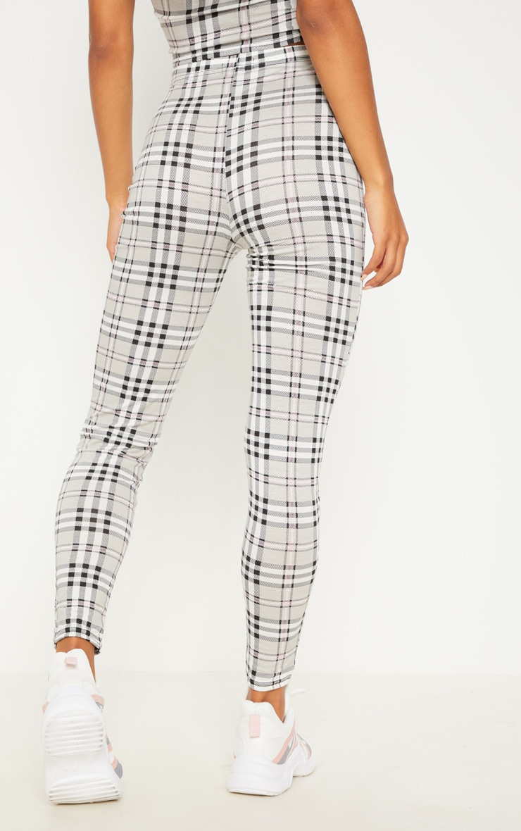 Grey Check Legging 4