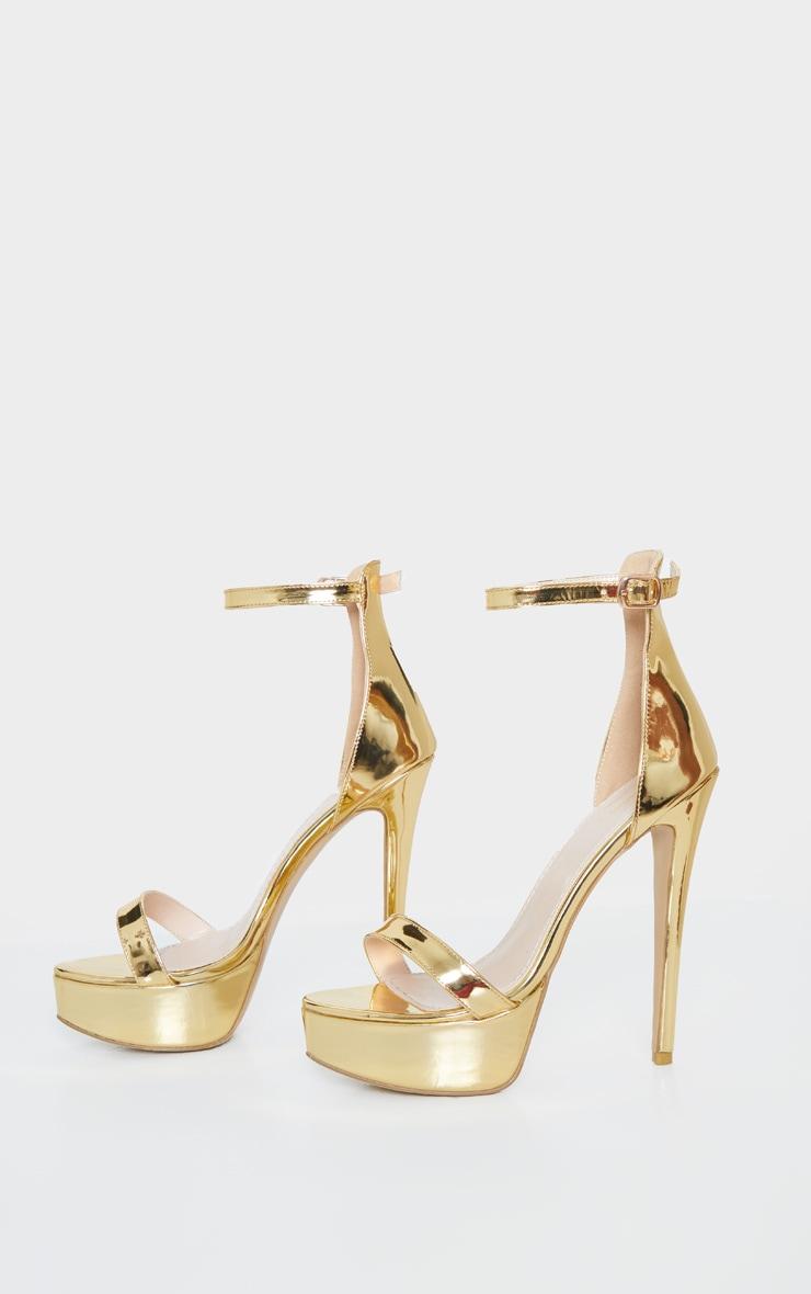 Gold Patent High Platform Heels 4