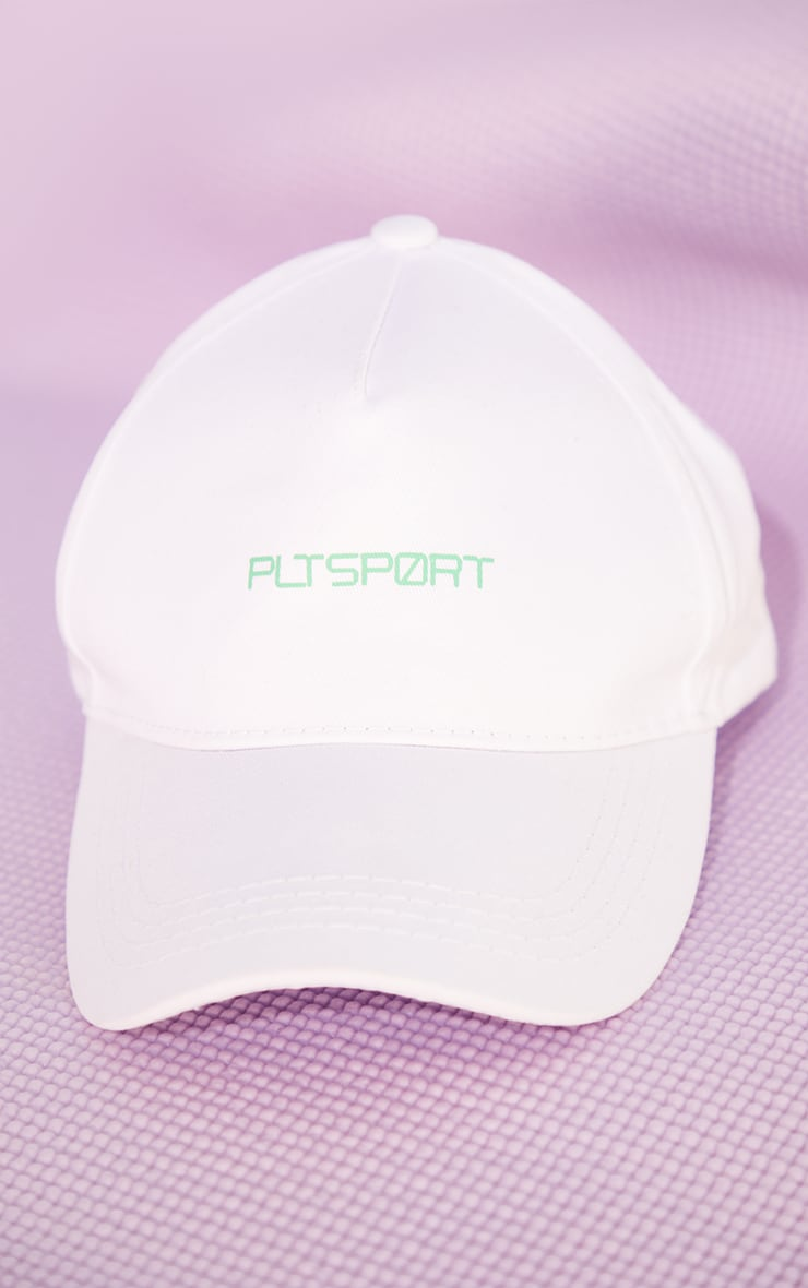 PRETTYLITTLETHING White Sports Cap 2