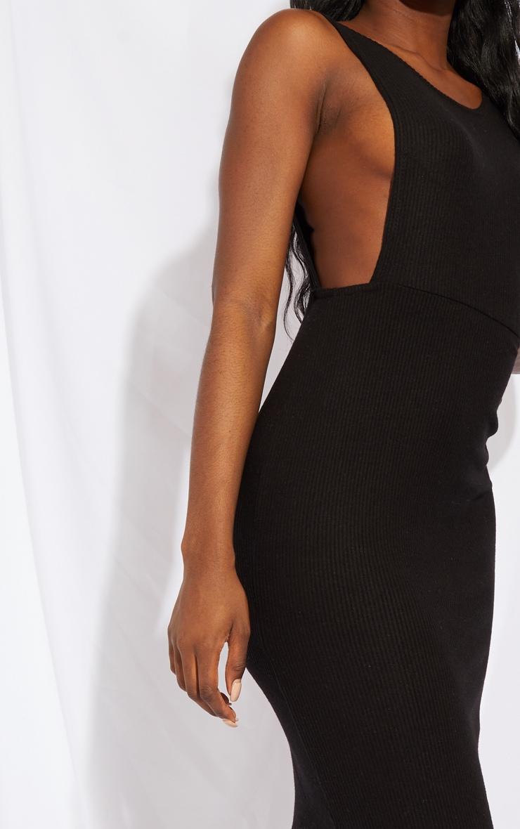 Tall Black Open Side Midi Dress 4