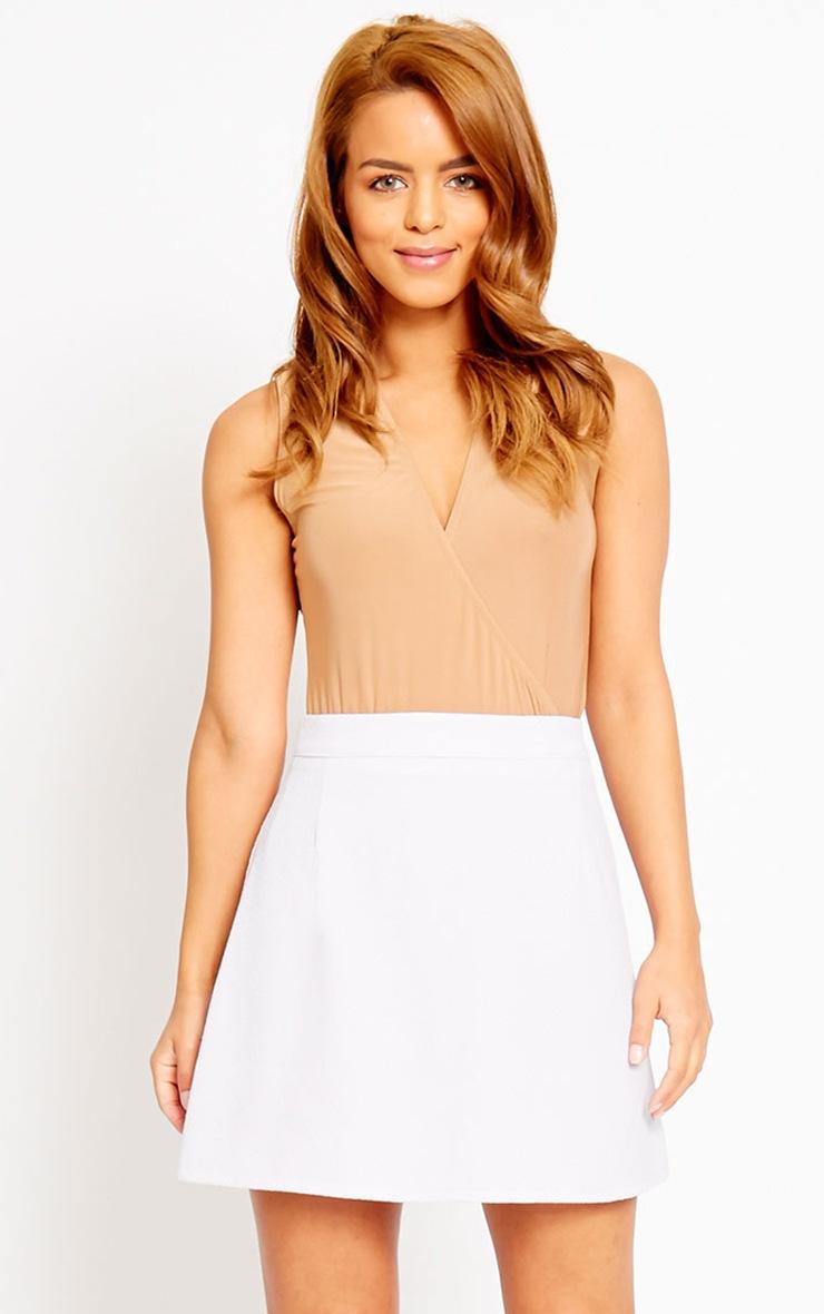 Rori Lilac Crepe A Line Mini Skirt 1